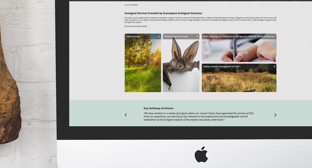 Greenspace Website Design